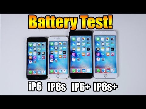 Battery Test! IPhone 6s Vs IPhone 6s Plus Vs IPhone 6 Vs IPhone 6 Plus