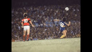 Zico (Flamengo) vs Maradona (Boca Juniors) 1981 - Duelo entre os melhores do mundo no Maracanã!