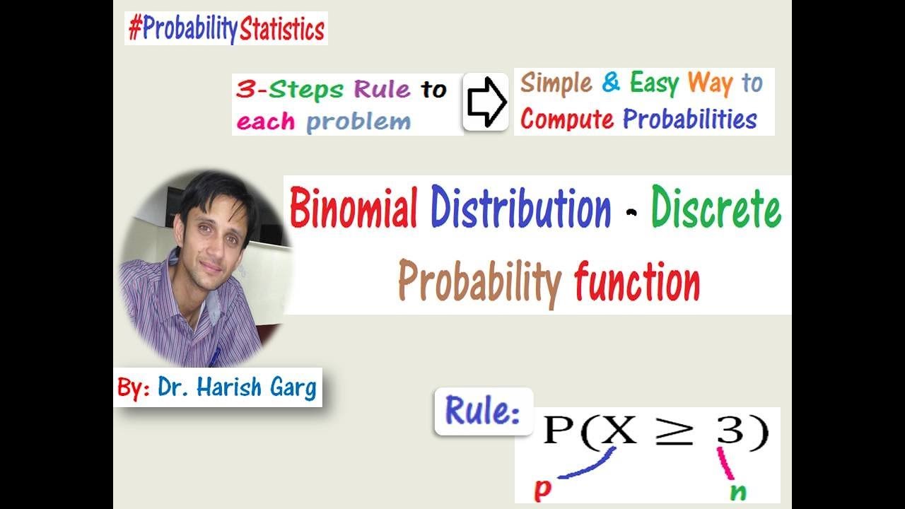Binomial Distribution (Easiest way to find the probability)