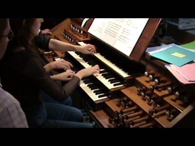 GOUNOD : extr. from Marche funèbre d'une marionnette. Duo Merlin, organ 4 hands duet. Live recording