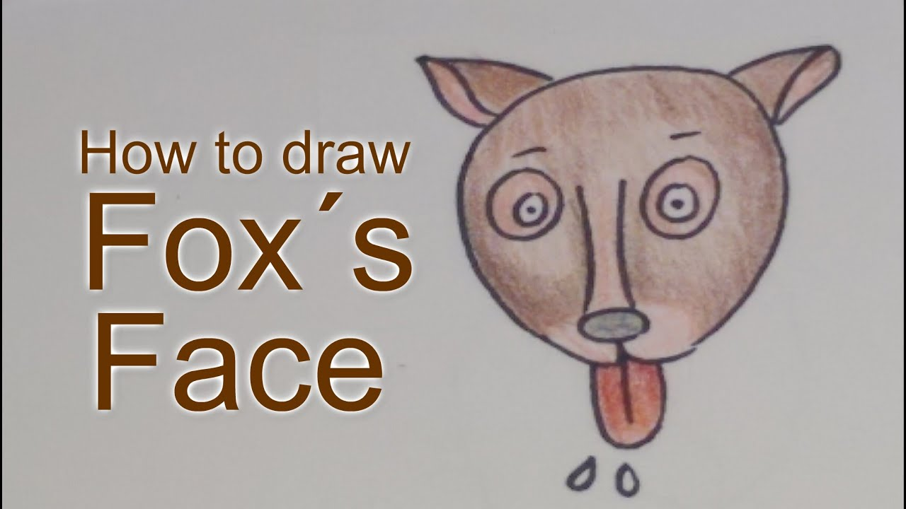 How to draw fox´s face - YouTube