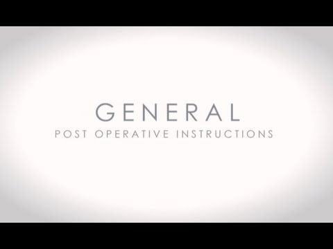 Video about Post-Operative Instructions For General Plastic Surgery