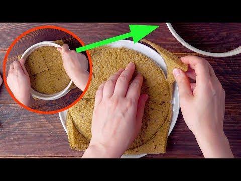 Esta mujer prepara su sándwich en un molde de horno desmontable. ¡Genial!