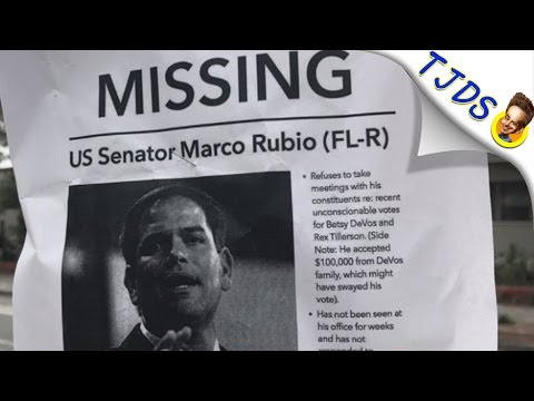 Marco Rubio CAUGHT Running Away From Constituents Fearing Town Hall Meetings
