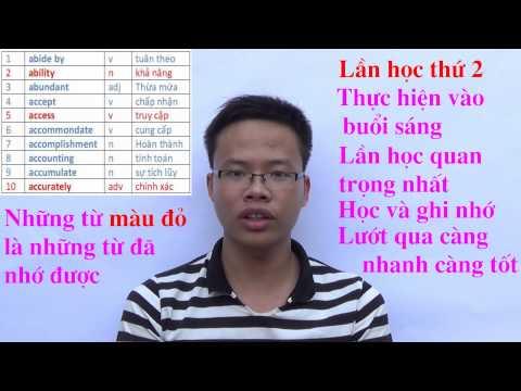 Vlog 2: Cách học 50 từ vựng tiếng Anh mỗi ngày (Hướng dẫn chi tiết)