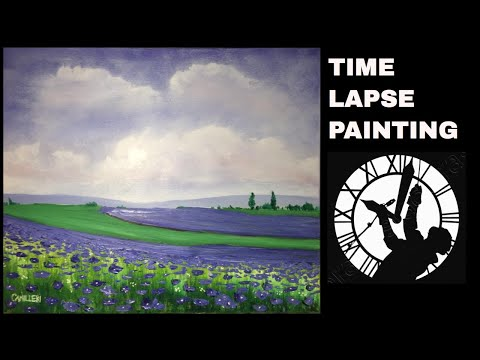 Flowers In The Countryside Painting Time Lapse (2018)