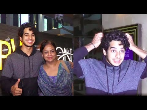Ishaan Khattar In All Fun Mood With Mother Neelima At PVR Icon