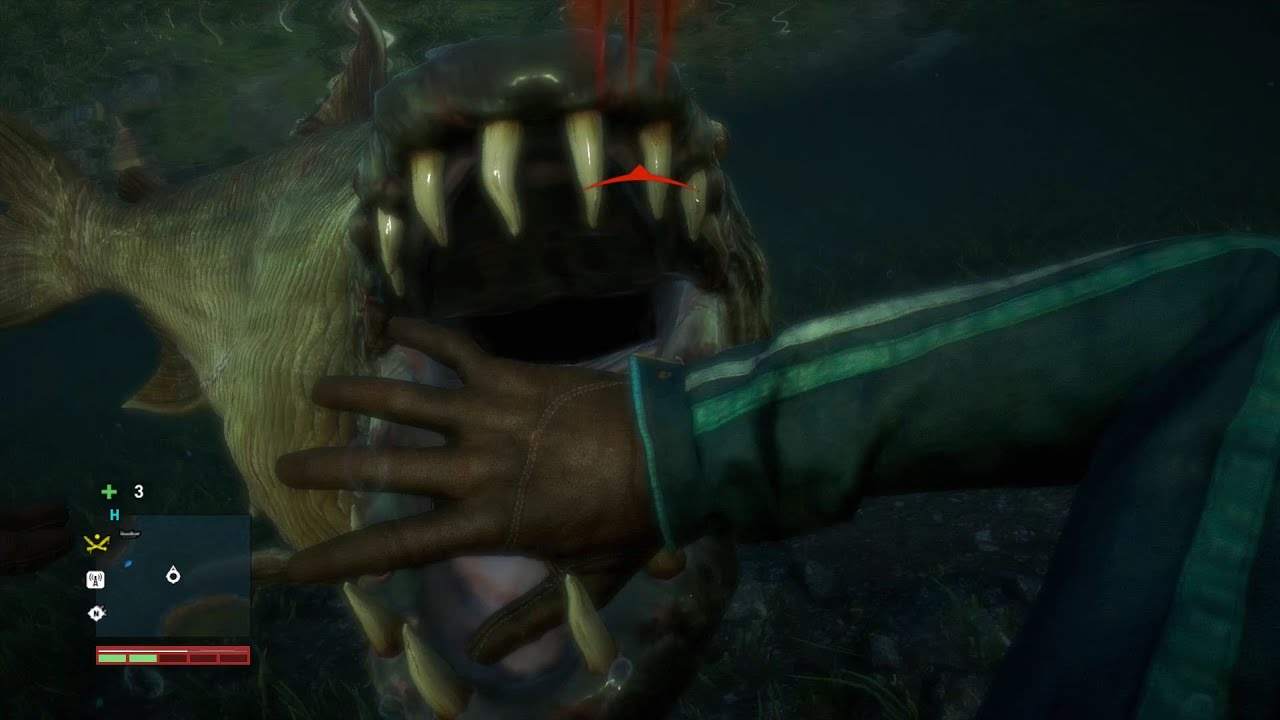 Far Cry 4 Demon Fish Attack Animation Pc Hd 1080p Youtube