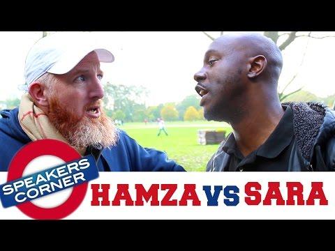 Hamza vs SaRa | Allah Racism & Ancestors | Speakers Corner