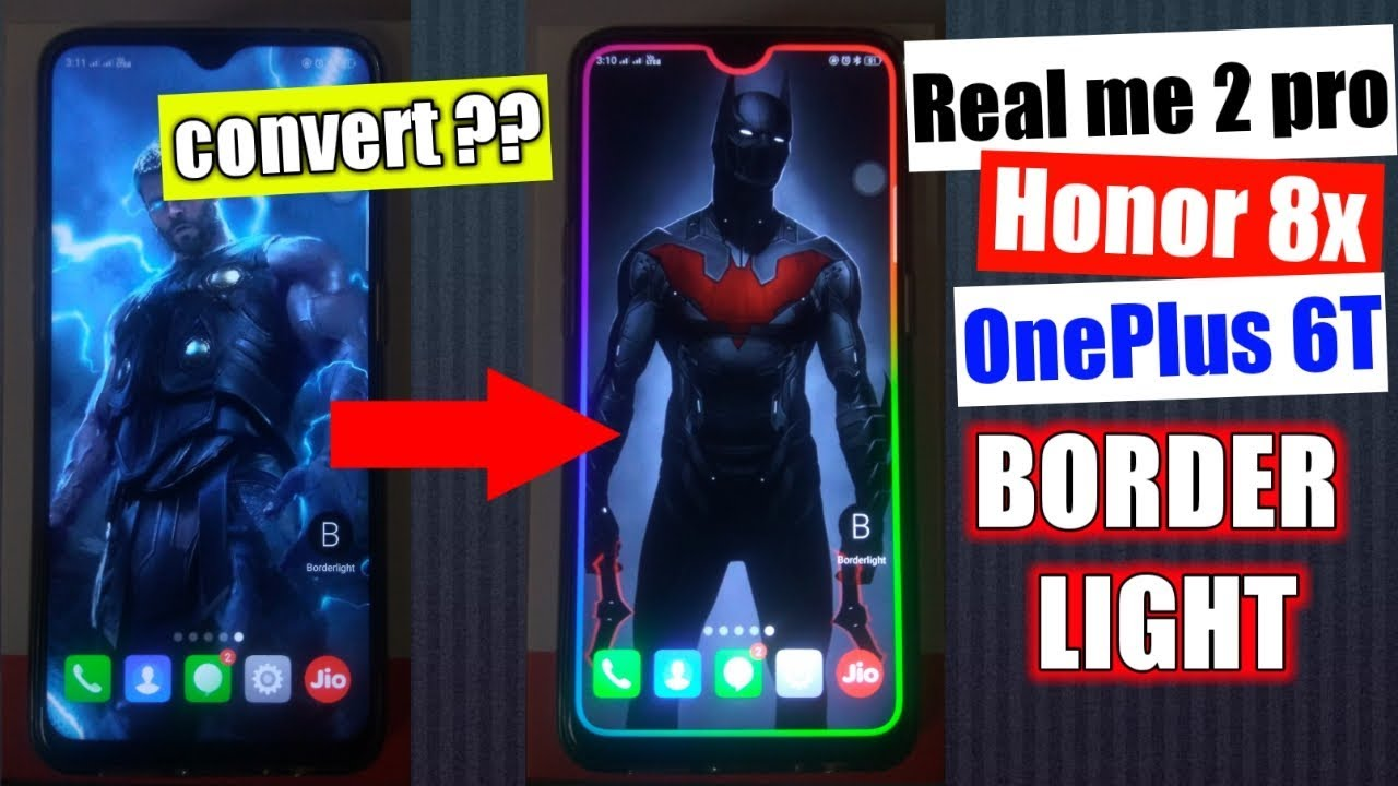 How to download border light app | border light for realme 2 pro | [Hindi]