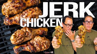 The Best Grilled Chicken I've Ever Made - Jamaican Jerk Chicken | SAM THE COOKING GUY 4K