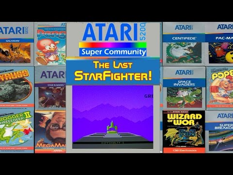 Atari 5200 Last Starfighter Prototype Gameplay!