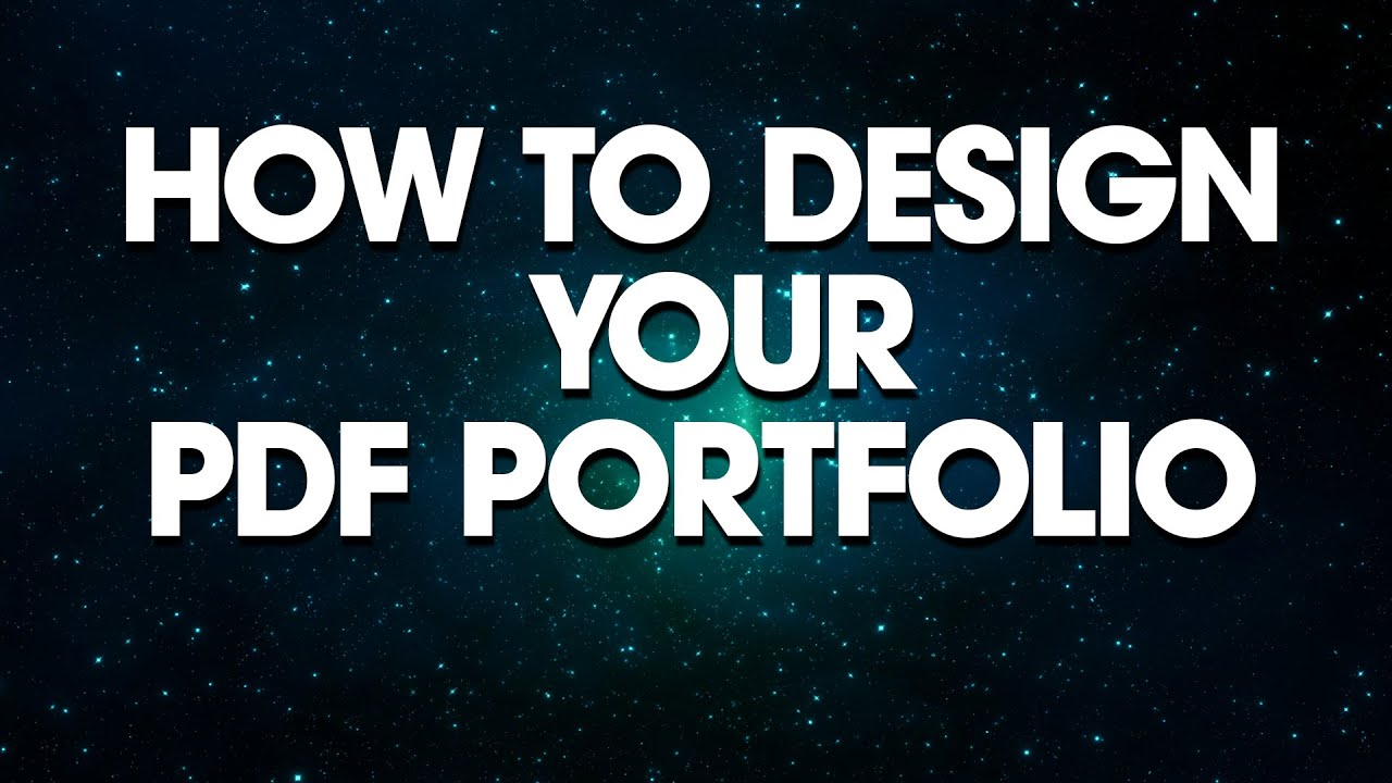 Graphic Design How To Design Your PDF Portfolio YouTube
