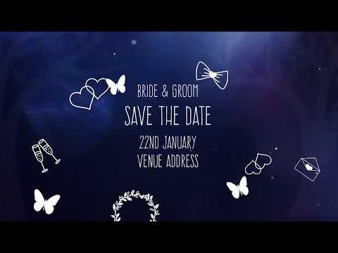 Save The Date | Custom Wedding Invitation Video - INT008
