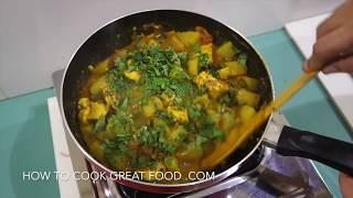 Chicken Potato Curry Recipe - Indian Murgh Aloo