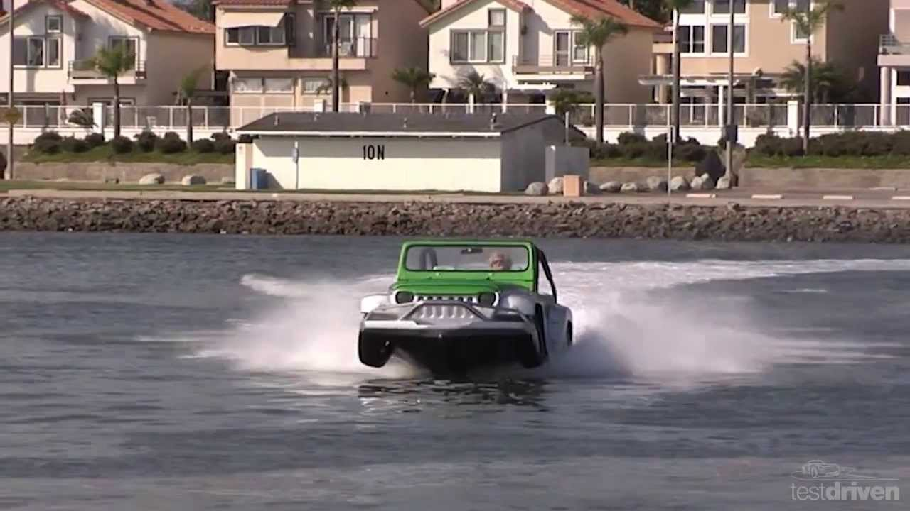 WaterCar Panther - Amphibious Jeep - YouTube