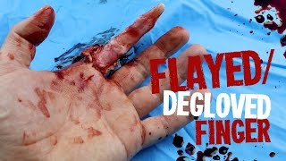 Flayed/degloved Finger SFX Makeup Tutorial