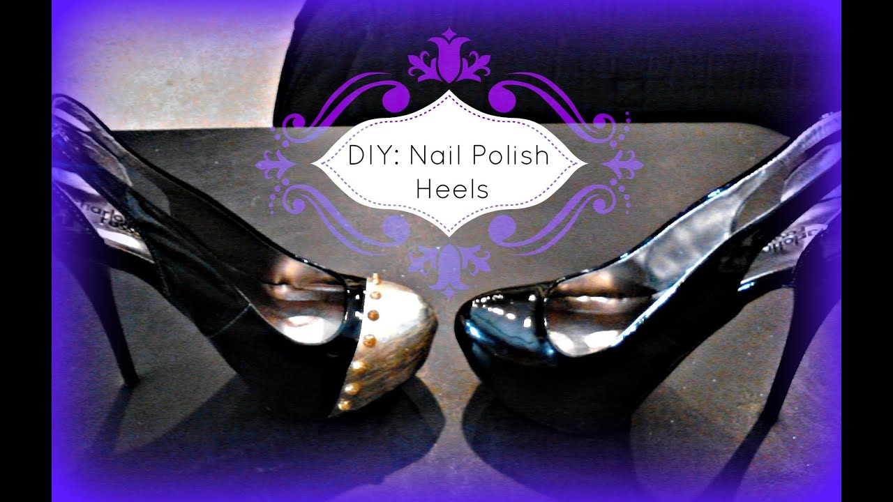 Fashion diy shoe painting using nail polish high heels for Diy shoes with nail polish