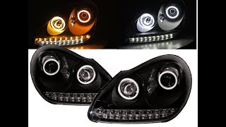 CrazyTheGod Cayenne 955 9PA MK1 03-06 PRE-FACELIFT LED Cotton Halo Headlight  BK for PORSCHE