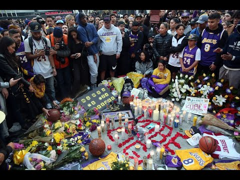 Fans-hold-vigil-for-Kobe-Bryant-at-Staples-Center-in-Los-Angeles