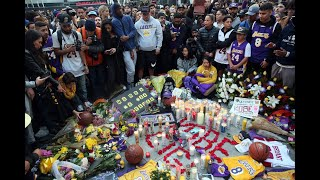 Fans hold vigil for Kobe Bryant at Staples Center in Los Angeles
