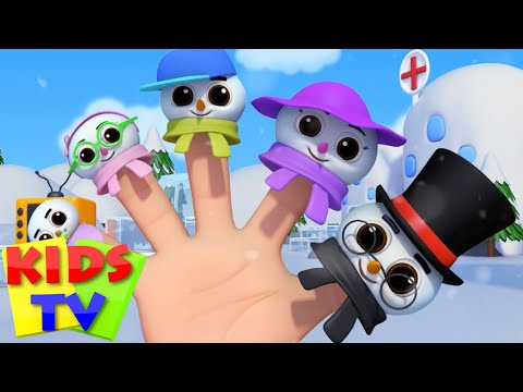 Snowman Finger Family  Five Little Snowmen  Christmas  Carols Rhymes  Kids Tv Nursery Rhymes