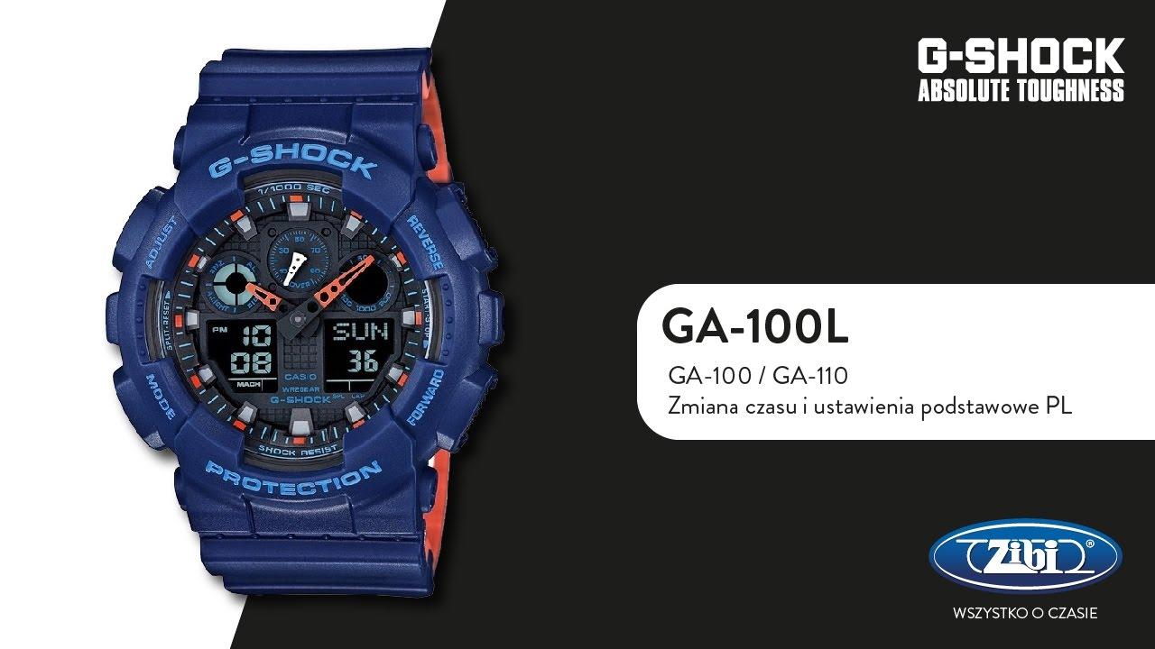 709511046ae87 G-SHOCK GA-100 zmiana czasu i ustawienia podstawowe PL - YouTube