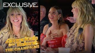 LOL! Heidi Klum Attempts Alesha Dixon's Famous Laugh! - America's Got Talent: The Champions