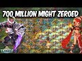 700 Million Might Player Zeroed By SGE, S/W, Q-I  - Lords Mobile