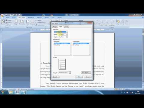 Cara Mudah Mengatur Ukuran Kertas Dan Mengatur Margin Pada Ms Word 2007