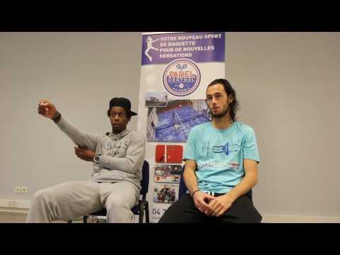 Conférence de presse Monfils et Haziza - Open Padel Lyon