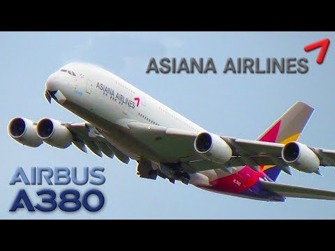 TRENT 900 POWER! Asiana Airlines Airbus A380 Takeoff at John F. Kennedy Int'l Airport (JFK)