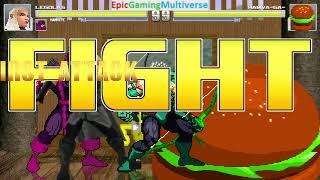 SpongeBob SquarePants And Heroic Archers VS Hamva Ga The Hamburger In A MUGEN Match / Battle / Fight