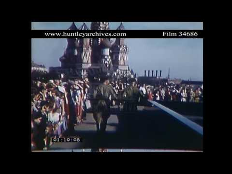 Moscow in great colour in the late 1950's.  Archive film 34686