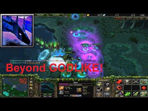DotA 6.81d - Viper, Netherdrake Beyond GODLIKE !