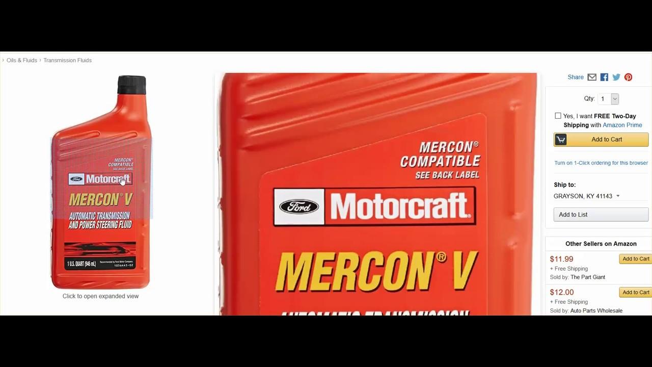 Mercon v transmission fluid