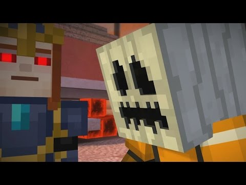 WHITE PUMPKIN TO ESCAPE PAMA ?! - Minecraft Story Mode EP7 P2