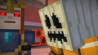 WHITE PUMPKIN TO ESCAPE PAMA ?! - Minecraft Story Mode EP7 P2