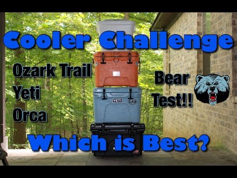 Cooler Challenge - Ice Retention, Test Against a Bear- Orca, Yeti, Ozark Trail