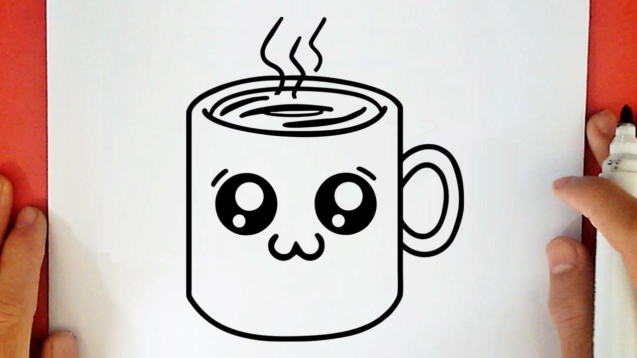 Comment Dessiner Une Tasse De Cafe Kawaii Youtube