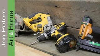 A few tips on the tools you'll need to start woodworking.