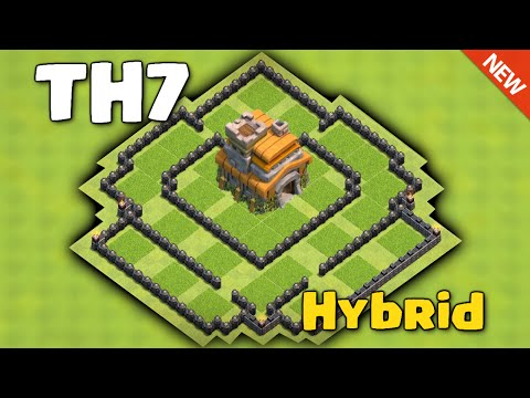 Clash Of Clans - BEST TOWN HALL 7 (TH7) HYBRID BASE 2016 ♦ Save Resource &  Trophy