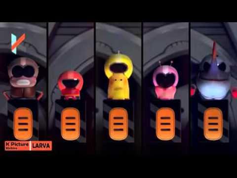 Clip hai huoc Larva phien ban 5 Anh em sieu nhan  Five Brothers Super Heroes