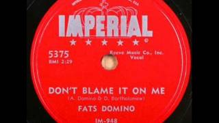 Watch Fats Domino Dont Blame It On Me video