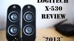 [2013] LOGITECH X-530 SPEAKER SYSTEM REVIEW, TEST ! AdamussX