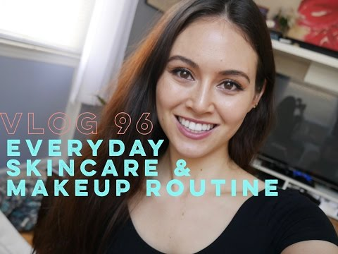 MY EVERYDAY SKINCARE & MAKEUP ROUTINE. VLOG 96