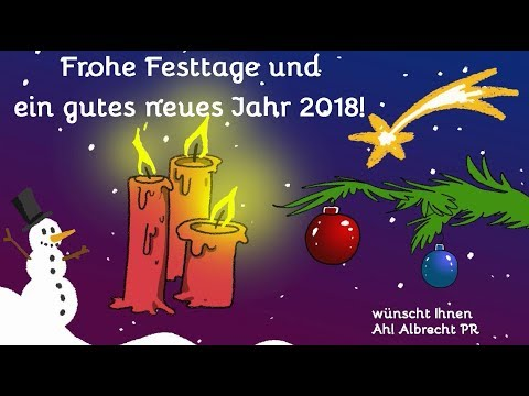 frohe weihnachten und alles gute f r 2018 youtube. Black Bedroom Furniture Sets. Home Design Ideas