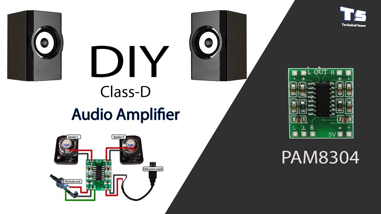 How To Make A DIY Mini Audio Amplifier with pam8403 ...