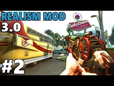 COD ZOMBIES RPG - NEW REALISM MOD Call of Duty NUKETOWN Zombies Gameplay Part 2