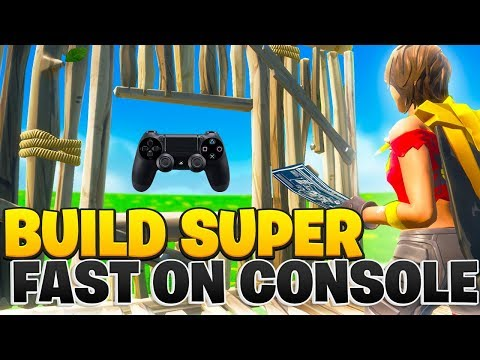 How To Build WAY FASTER On Console Fortnite! (Fortnite PS4 + Xbox Tips)